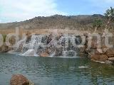 nevada desert artificial waterfall